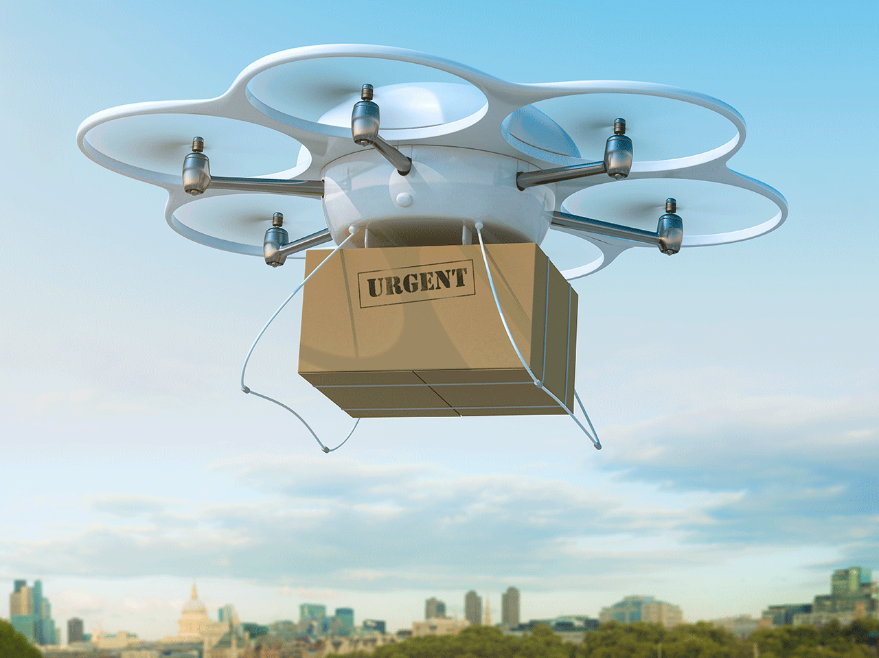 Environmentally Friendly Drone Delivery